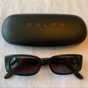 RALPH LAUREN black vintage rectangular sunglasses